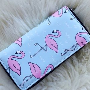 Handbags - Zippered Wallet Summer Flamingo